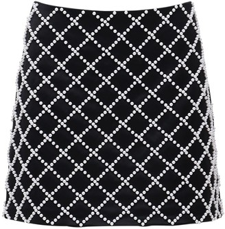 Giuseppe di Morabito Embellished Satin Mini Skirt