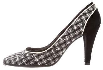Chanel Tweed Round-Toe Pumps