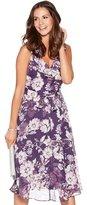 M&Co Floral ruffle neck dress