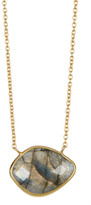Argentovivo 18K Gold Plated Sterling Silver Circle Pendant Necklace