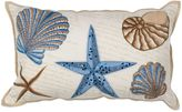 Kas Seashell Oblong Throw Pillow in Ivory