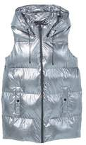 Mango Outlet Quilted metallic vest