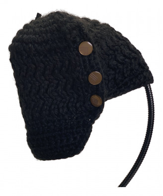 Nobis Black Wool Hats