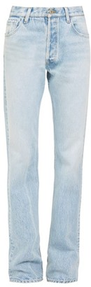 ATTICO Washed Straight-leg Jeans - Light Denim