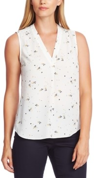 Vince Camuto Whimsical Petals Sleeveless Blouse