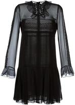 Giambattista Valli crochet-trimmed mini dress - women - Silk/Polyamide/Polyester - 40