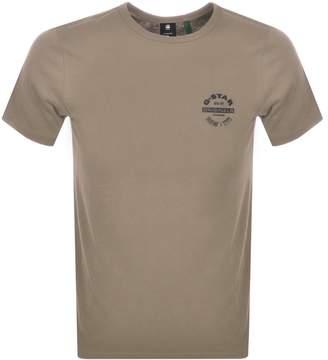 G Star Raw Originals Logo T Shirt Khaki