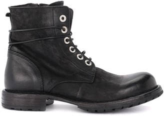 Moma Amphibious Boot In Black Suede Leather