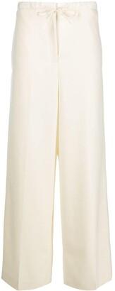 Jil Sander Drawstring High-Waist Trousers
