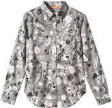 Joe Fresh Women's Floral Shirt, Olive (Size XL)