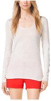 Michael Kors Scoop-Neck Cashmere Top