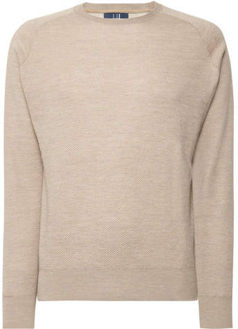 Dunhill Links Herringbone Cashmere, Silk And Hemp-Blend Sweater