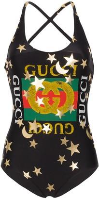 Gucci Logo-Print Swimsuit