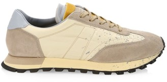 Maison Margiela Replica Runner Extended Paint Mix Media Leather Low-Top Sneakers
