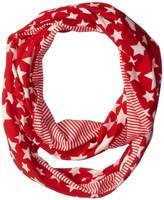 D&Y Women's Americana Stars and Stripes Jersey Loop Scarf