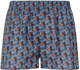 Sunspel Leaf Print Boxer Shorts