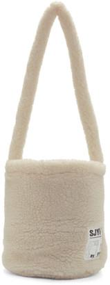 Sjyp White Sherpa Bucket Bag