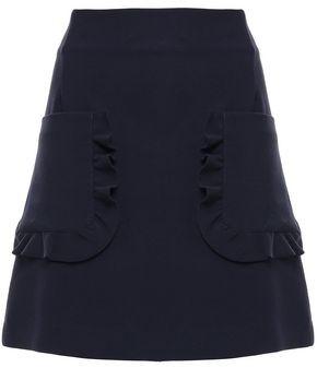 Sandro Ruffle-trimmed Cady Mini Skirt