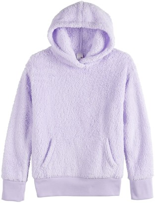 So Girls 7-16 Pullover Sherpa Hoodie