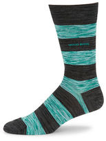 HUGO BOSS Striped Cotton-Blend Socks