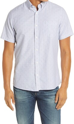 1901 Slim Fit Dobby Stripe Short Sleeve Button-Down Shirt