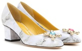 Charlotte Olympia Oprah Embellished Leather Pumps