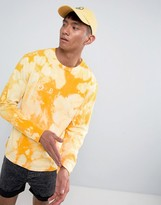 Obey Bleach Long Sleeve T-Shirt With Chest Logo In Yellow