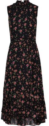 Rebecca Minkoff Harvey Crochet-trimmed Floral-print Chiffon Midi Dress