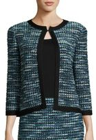 St. John Tweed Three Quarter Sleeve Cardigan