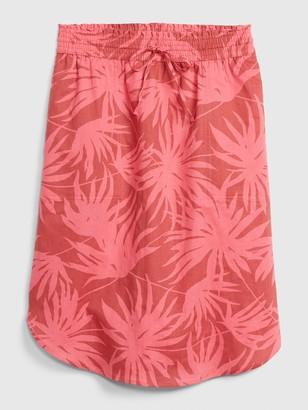 Gap Pull-On Skirt in Linen-Cotton