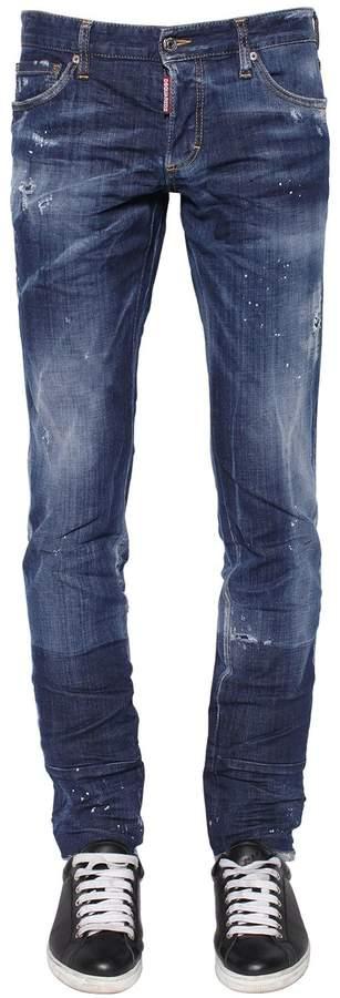DSQUARED2 17.5cm Slim Stretch Cotton Denim Jeans