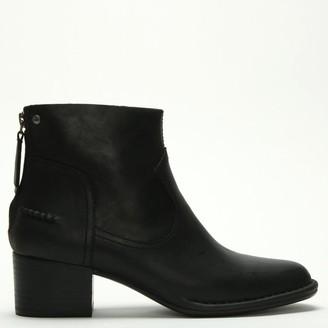 UGG Bandara Black Leather Ankle Boots