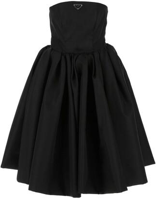 Prada Re-Nylon Gabardine Corset Dress