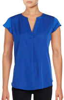 Tommy Hilfiger Split-Neck Flutter Top