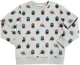 Stella McCartney Helmet Print Organic Cotton Sweatshirt