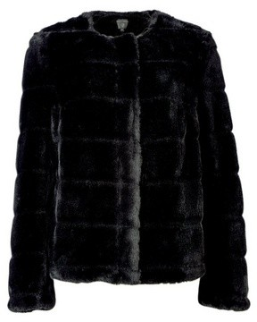 Dorothy Perkins Womens Black Short Faux Fur Jacket, Black