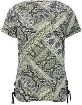 M&Co Tie side tile print top