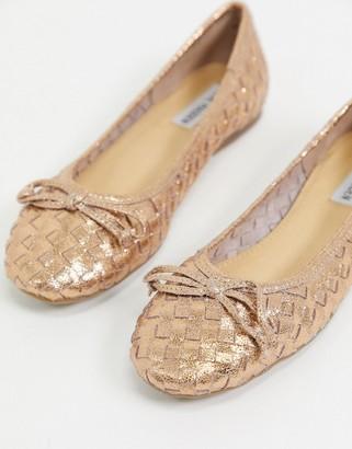 Rose Gold Ballet Flats | Shop the world