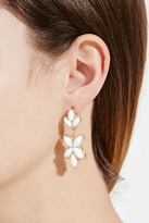 Forever 21 Faux Stone Petal Drop Earrings