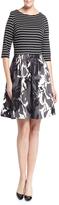 Taylor 5730P Floral Scuba A-Line Dress