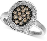 LeVian Le Vian Diamond Chocolate and White Diamond Oval (3/8 ct. t.w.) in 14k White Gold