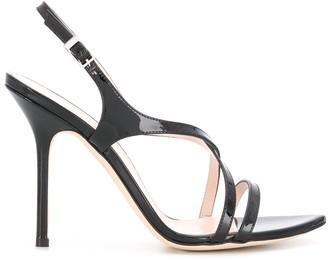 Pollini Patent Strap Sandals