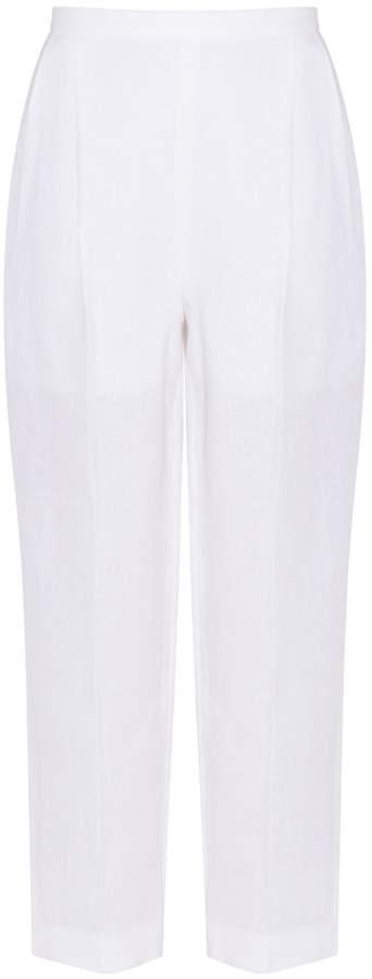 DELPOZO White Brocade Pants