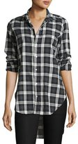 Frank And Eileen Grayson Brushed Italian Twill Shirt, Black Plaid