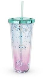Blush Lingerie Mermaid Glitter Drink Tumbler