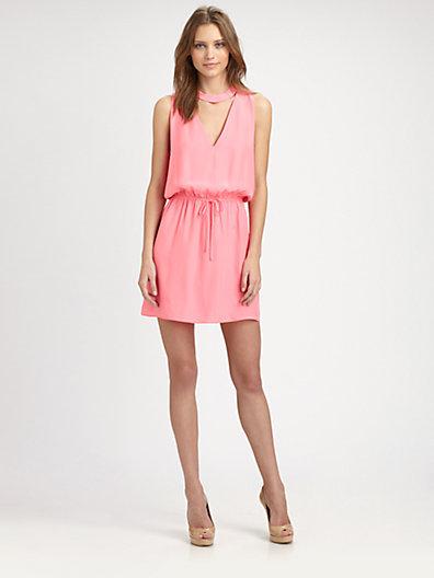 Parker Aubrey Silk Keyhole Dress