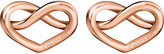 Calvin Klein Charming rose-gold tone knotted heart earrings