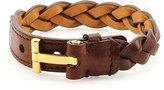 Tom Ford Nashville Men's Braided Leather Bracelet, Rust Brown