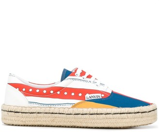 Lanvin Flags espadrille-style sneakers