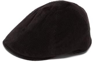 Borsalino Cotton-blend Corduroy Flat Cap - Mens - Black